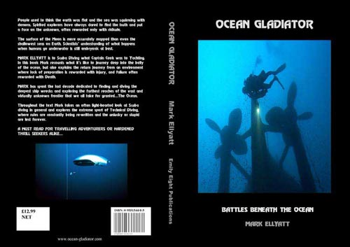 Read Mark Ellyatt's new book Ocean Gladiator. 350 pages of incredible deep diving stories and pictures. Click here