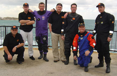 Feb05 HMS Victoria trip - TDI Poland & John Womack from Otter drysuits plus the legendary Julian